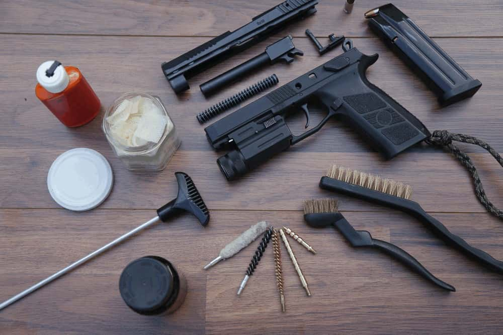 Cleaning a handgun