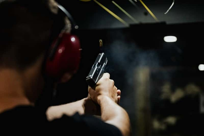 person with Glock that was just fired